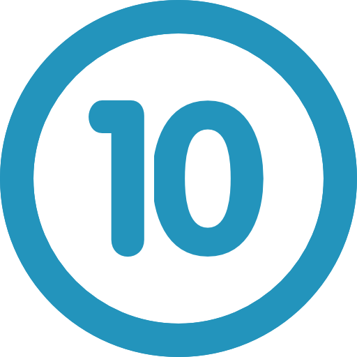 number 10 icon